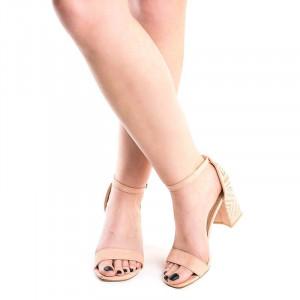 Sandale cu toc gros chic Martina pink