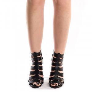 Sandale cu toc romane Dona negru