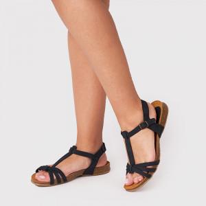 Sandale Dama cu talpa joasa CARINA Negru