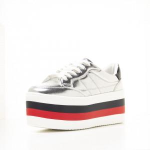 Sneakers dama Alicia argintiu
