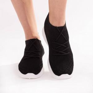 Sneakers trendy din material textil cu siret Crissy