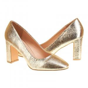Pantofi office cu toc mediu Salma oro