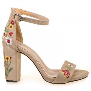 Sandale flower cu toc Alma