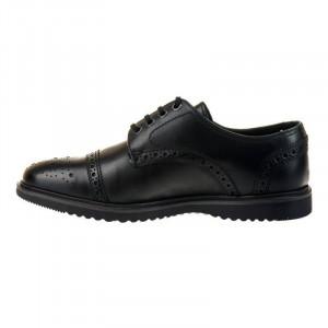 Pantofi barbati casual din piele naturala italiana Demetrio negru