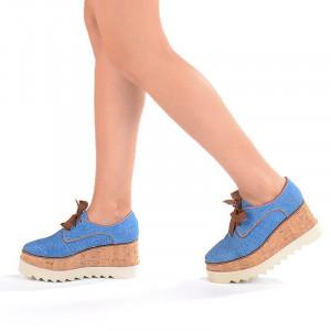 Pantofi casual cu talpa inalta Mia