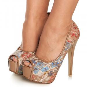 Pantofi cu platforma si toc inalt Azumi