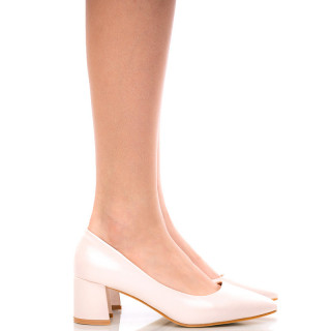 Pantofi dama cu toc mediu DIANNE bej
