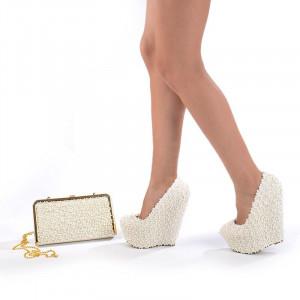 Pantofi de mireasa cu poseta inclusa Mia