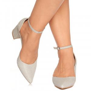 Pantofi de ocazie cu toc mediu decupat Antonia