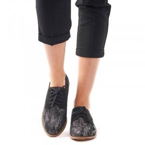 Pantofi office cu interior din piele Rosalia nero