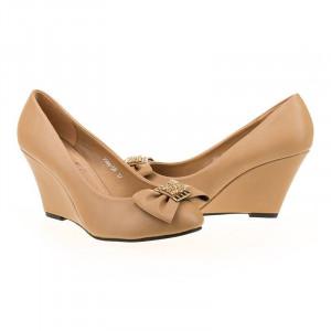Pantofi office cu platforma Bianca bej
