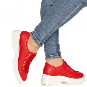 Pantofi sport cu talpa usoara din spuma Maria rosu