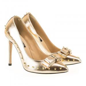 Pantofi stiletto Coco Gold