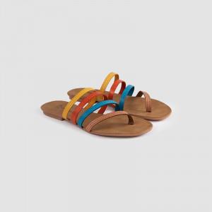 Papuci dama, IDALIA, Camel