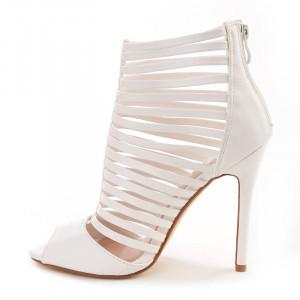 Sandale c toc inalt si barete Layla