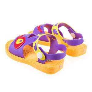 Sandale copii unisex cu sonerie in talpa Andrew mov