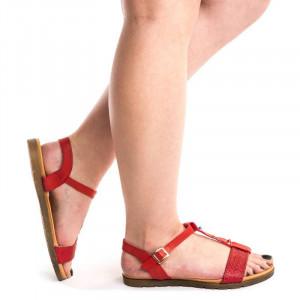 Sandale cu talpa joasa Akemi rosii