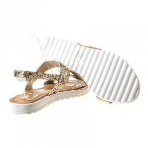 Sandale cu talpa joasa Ame gold