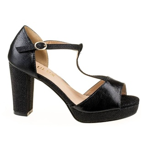 Sandale cu toc gros Amalia blk
