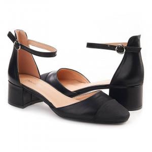 Sandale cu toc mic elegante Alma negru