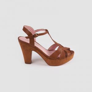 Sandale dama, CARO, Tan