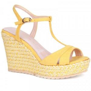 Sandale dama, CLAIRE, Mostaza
