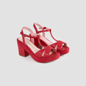 Sandale dama, COLETTA, Rosu