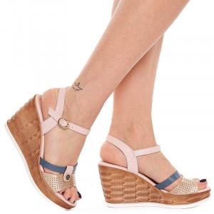Sandale Dama cu Platforma Olivia auriu