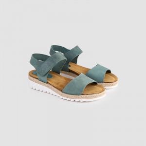 Sandale dama, GRETA, Turcoaz
