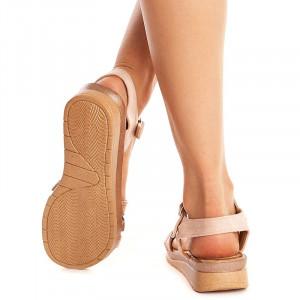 Sandale usoare cu talpa joasa Mira oro