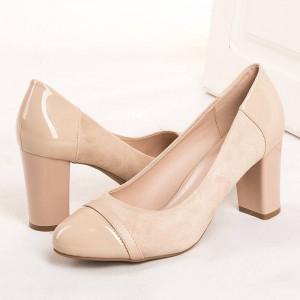 Pantofi office cu toc gros Natalia