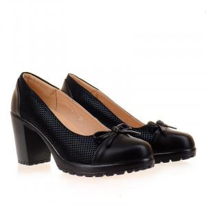 Pantofi office cu toc gros si platforma comoda Daria