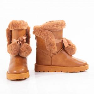 Cizme de iarna imblanite Antonia camel