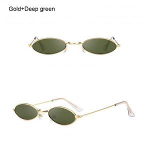 Ochelari de soare retro vintage Antonia verde inchis