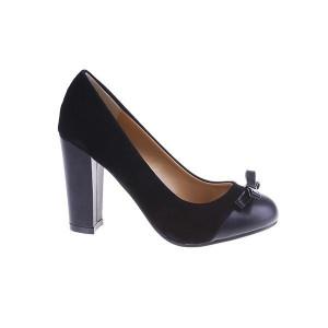 Pantofi Carla negru/pu/sued