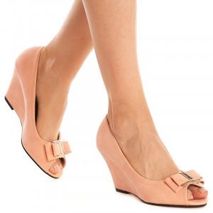 Pantofi cu platforma Theresa rosa