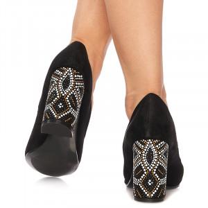 Pantofi cu toc inalt din velur Grazia