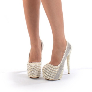 Pantofi de mireasa cu platfroma Salma