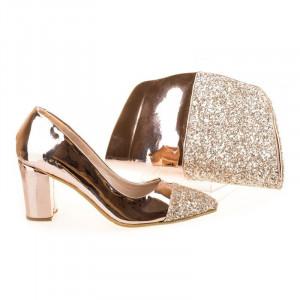 Pantofi de ocazie cu poseta inclusa Ambra