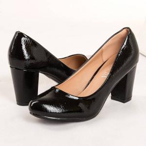 Pantofi office cu toc comod Amalia