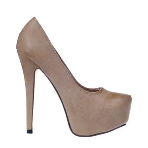 Pantofi platforma Serenity khaki