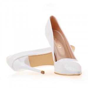 Pantofi stiletto Abelle wht