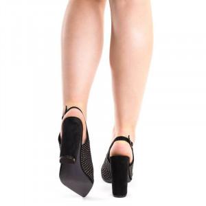Pantofi stiletto cu toc gros Antonia