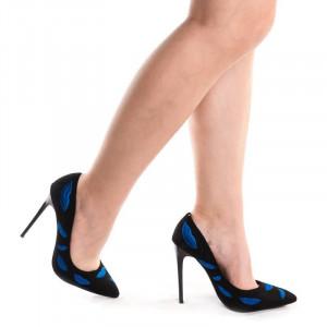Pantofi stiletto din velur Amalia lips