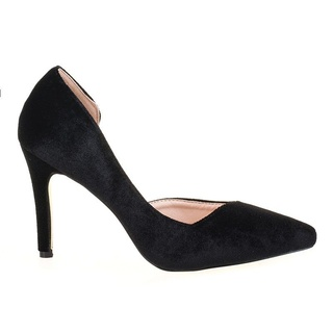 Pantofi stiletto velur Sally