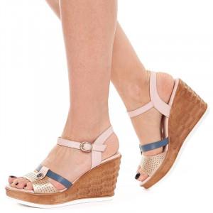 Sandale cu platforma Olivia oro