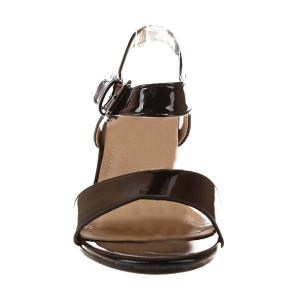 Sandale cu toc din lac Amelia