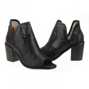 Sandale cu toc la moda Adriana blk