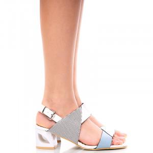 Sandale dama cu toc mediu Clara beige