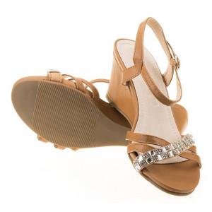 Sandale de zi confortabile Linda camel